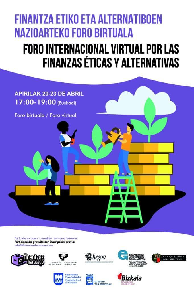 Cartel del foro de finanzas éticas y alternativas